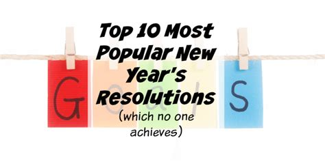 top 10 most popular new year s resolution fails