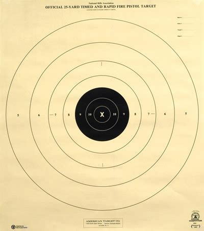 printable muzzleloader targets 25 yard timed and rapid pistol american target company