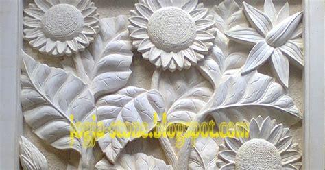 Patung Naga Ukiran 3d relief bunga matahari kerajinan ukir batu alam paras