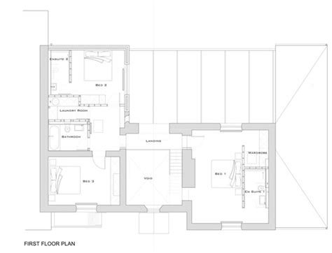 small glass house plans first floor plan