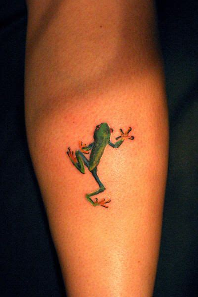 small frog tattoo designs small frog on leg calf