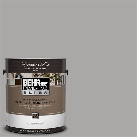 behr premium plus ultra 1 gal ul260 7 cathedral gray flat exterior paint 485401 the home depot