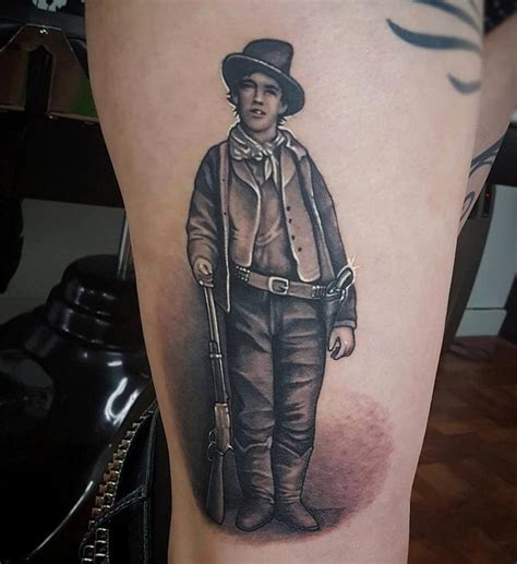 billy the kid thigh piece by matt driscoll tattoonow