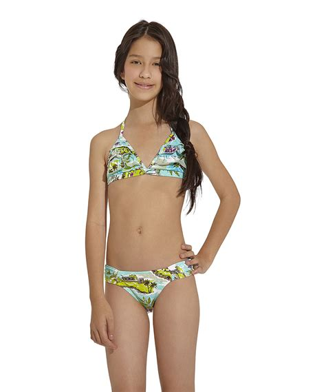 zulily little girls swimwear ondademar aqua green goa bikini girls zulily
