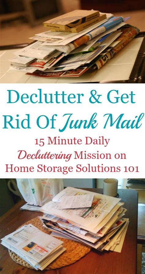 home storage solutions 101 how to declutter get rid of junk mail