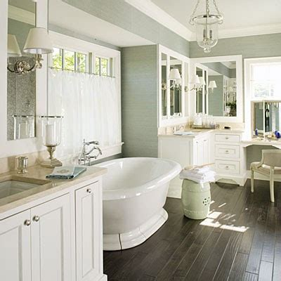 bathroom with dark wood floor to da loos 5 pretty pedestal soaker tub bathrooms