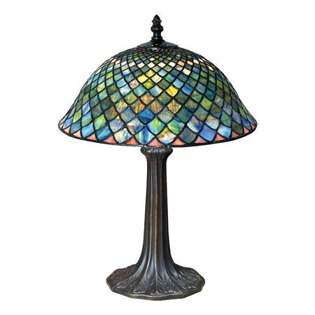 Paul Sahlin Tiffany 955 Tiffany Fishscale Table Lamp