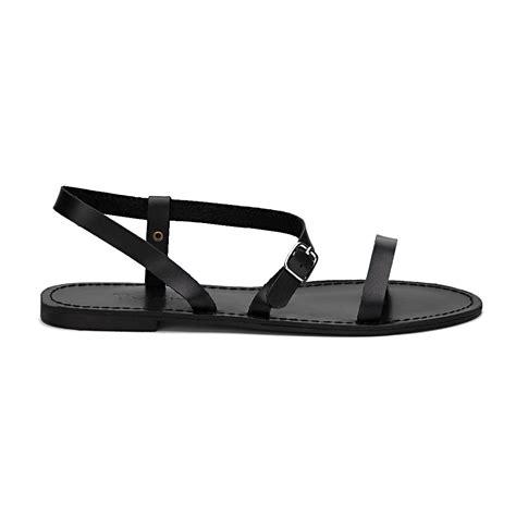 Simply Slip Sandals 3 Black Pin Buckle Open Toe Simple Slip On Style