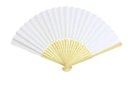 Paper Folding Fans - blank white folding bamboo fan retro paper
