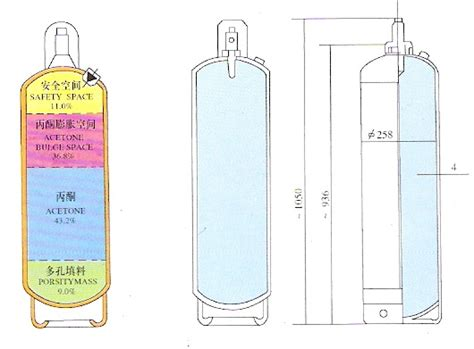 high quality dissolved 40l acetylene gas cylinder of chinagascylinder dissolved acetylene cylinder