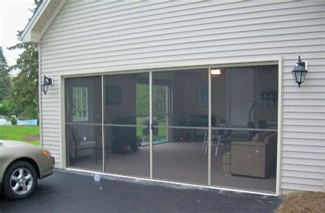 Sliding Garage Door Sliding Garage Door Screens From Killian S Of Palm Coast Fl