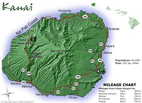printable map kauai kauai maps