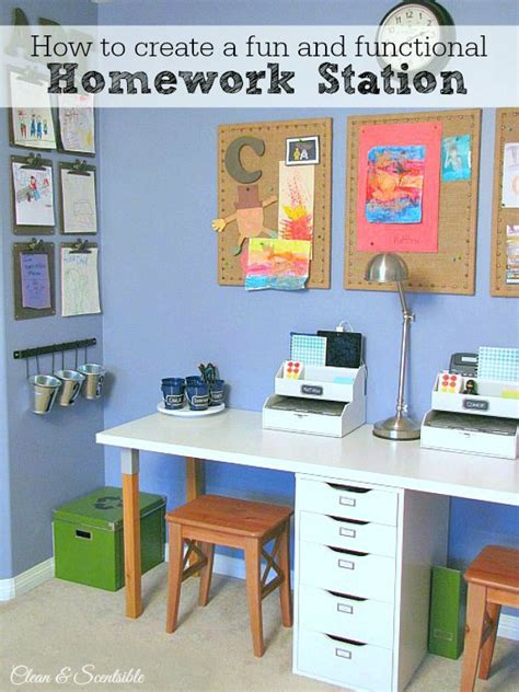 homework desk ideas kids homework station clean and scentsible