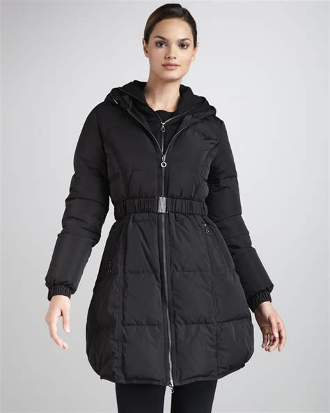 Puffer Coat lyst dkny hooded puffer coat in black