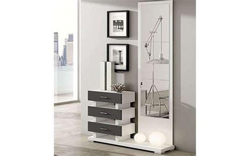 recibidor entrada mueble recibidor moderno con espejo y cajones