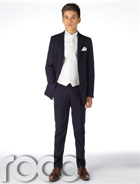 Set Boy Navy boys navy suit page boy suits boys weddings suit