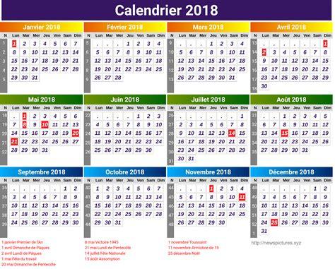 Calendrier 2018 Par Semaine Calendrier 2018 Semaines Newspictures Xyz