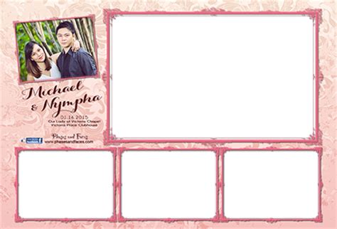 wedding layout png photobooth layout other events collaterals on behance