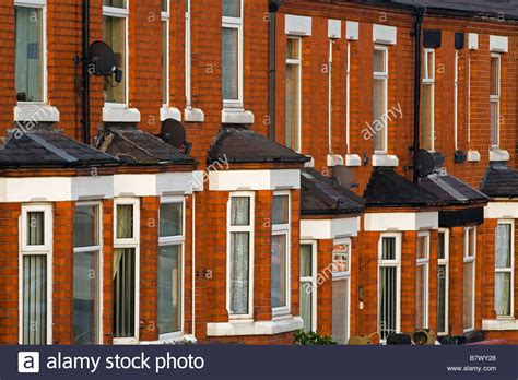 housing windows red brick terraced housing with bay windows stock photo royalty free image 22082992