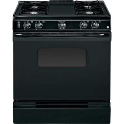 ge 31 in slide in gas range in black jgss05dembb the