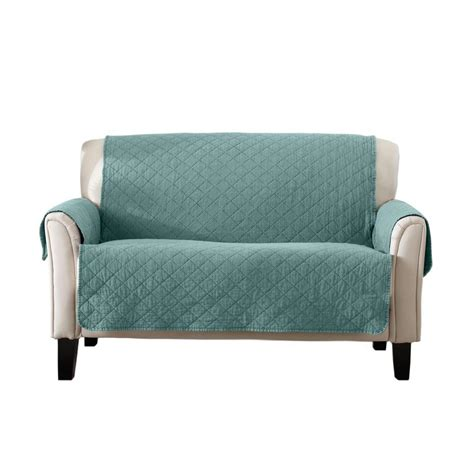 aqua loveseat great bay home laurina collection aqua stonewashed