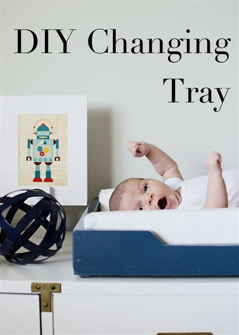 how to make a baby changing table diy changing table tray the vintage rug shop the vintage