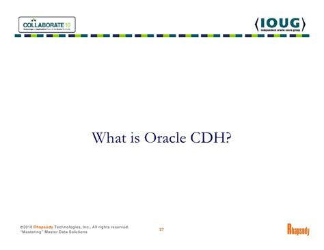 What Is Oracle Mdm by Master Data Management Mdm 101 Oracle Trading Community Architect