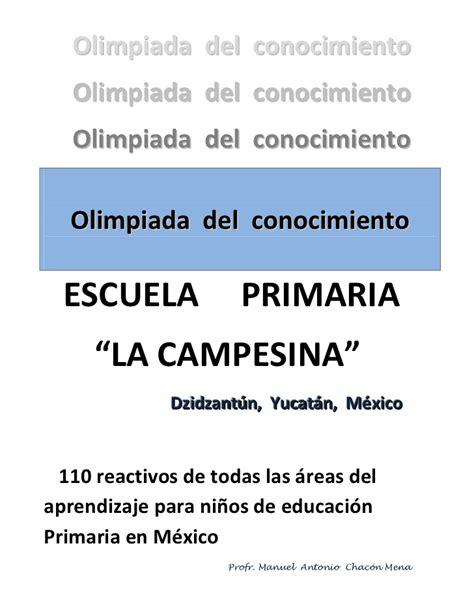 examenes de la olimpiada del conocimiento infantil 2016 sexto grado olimpiada del conocimiento 6 176 grado