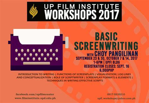 up film institute up film institute basic screenwriting up film institute