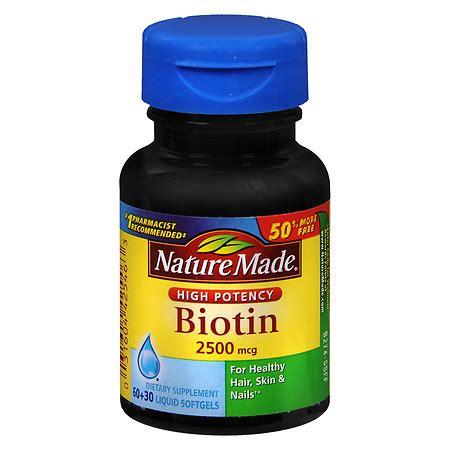 supplement biotin nature made biotin 2500 mcg dietary supplement liquid
