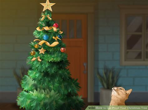 funny wayscto keep cats off christmas tree 3 ways to cat proof your tree wikihow