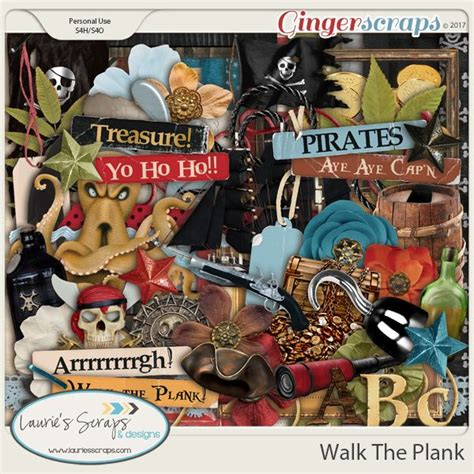 pattern for pirates walk the plank 905 best digital scrapbooking products images on pinterest