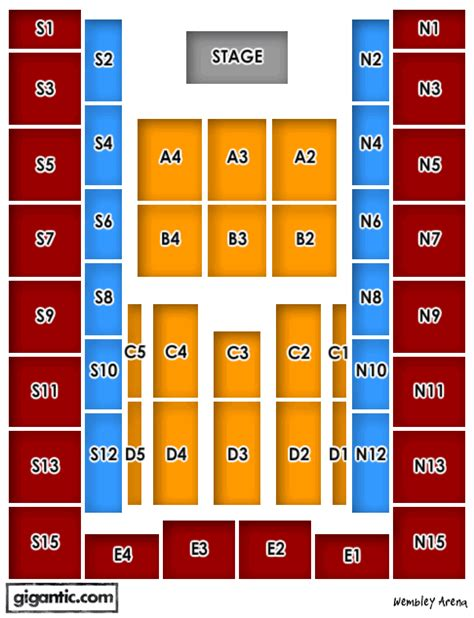wembley arena floor plan bryan adams tickets tour dates concerts gigantic tickets