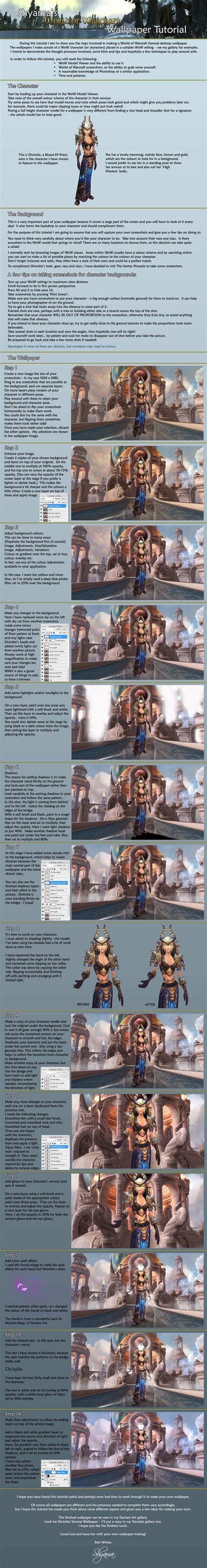 tutorial warcraft shyama s world of warcraft wallpaper tutorial by shyama88
