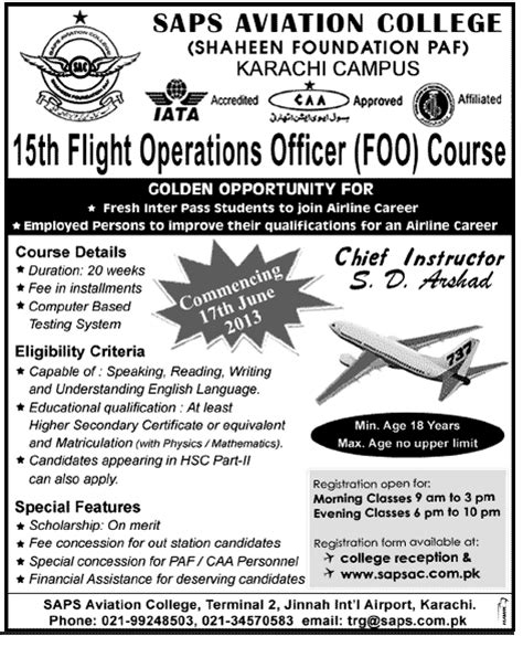 Certification Courses For Mba Operations by Bba And Mba Aviation Management Admissions In Karachi