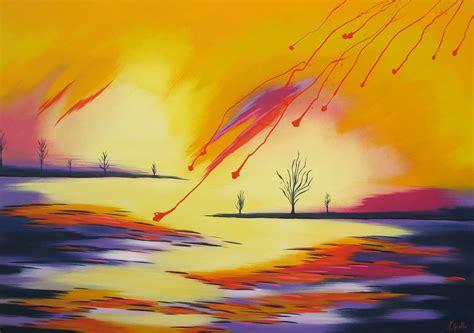cuadros de paisajes abstractos im 225 genes arte pinturas paisajes abstractos