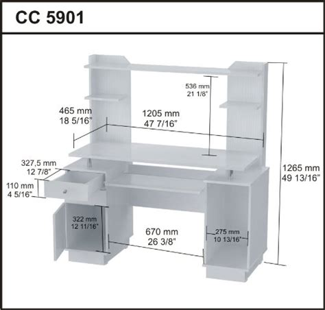 laura computer desk with hutch inval cc 5901 laura collection computer work center with