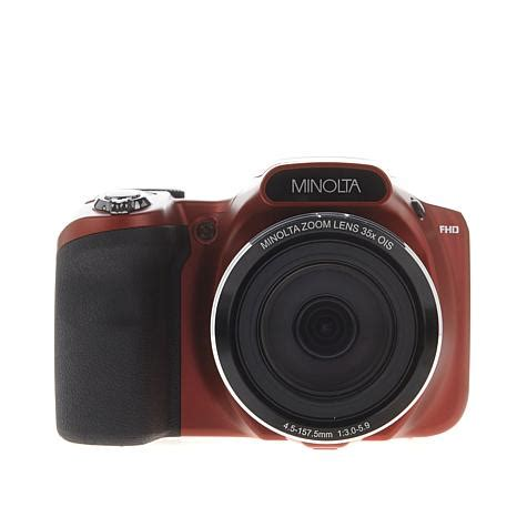 minolta 20mp 35x optical zoom slr style camera with 8gb