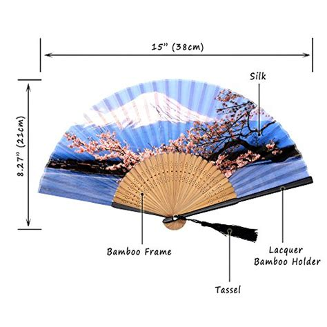 hand held fans for church omytea quot sakura fuji quot folding hand held fan for women