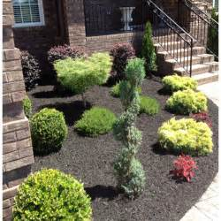 black landscaping new landscaping black mulch the house
