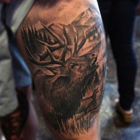 elk tattoos 70 antler designs for cool branched horn ink