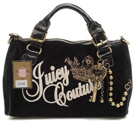 Queen Purse by Juicy Couture Queen Velour Madge Bag Black Juicy Couture