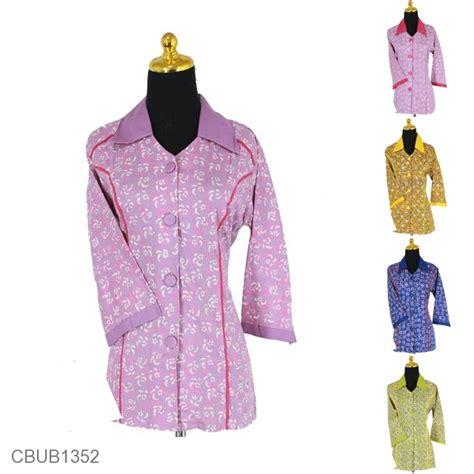 Blus Lengan Lonceng Warna Bata baju batik blus tanggung motif kembang nom warna blus lengan tanggung murah batikunik
