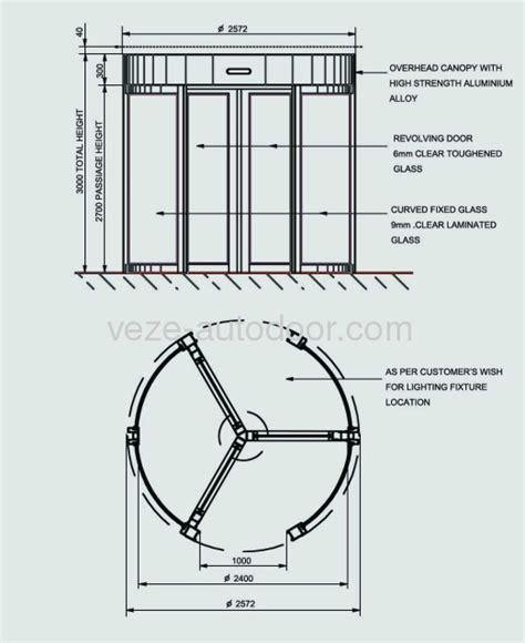 revolving door section revolving door dimensions images