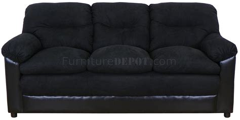 black fabric loveseat black fabric and bicast modern loveseat sofa set w options
