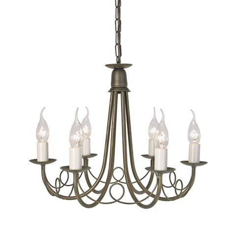kronleuchter schwarz gold minster 6 light chandelier black gold