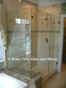 custom framed frameless glass shower doors