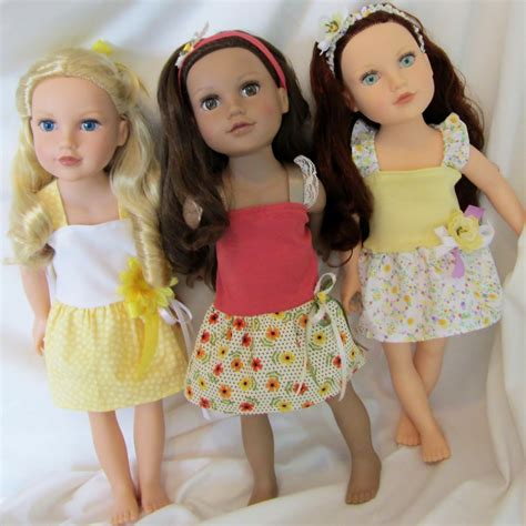 18 Inch Doll by 3 Dress Set 6 Pc Doll Clothes 18 Inch Dolls