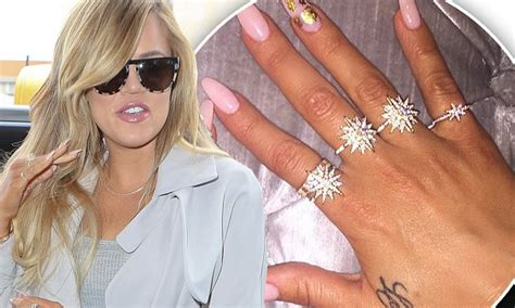 khloe kardashian flaunts lamar odom tattoo with diamond