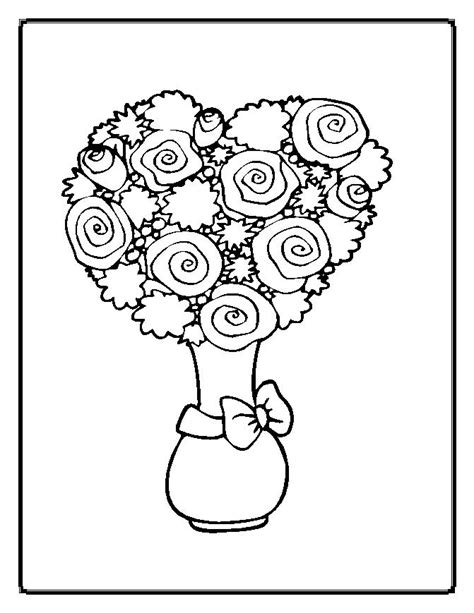 coloring page with flower flowers coloring pages